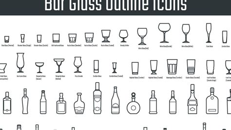 Types Of Barware by Bar Glasses Types Glasses
