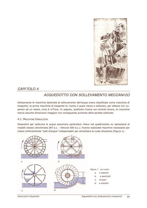 idrologia dispense acquedotti con sollevamento meccanico dispense