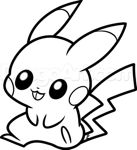 How To Draw Baby Pikachu Step By Step Pokemon Characters