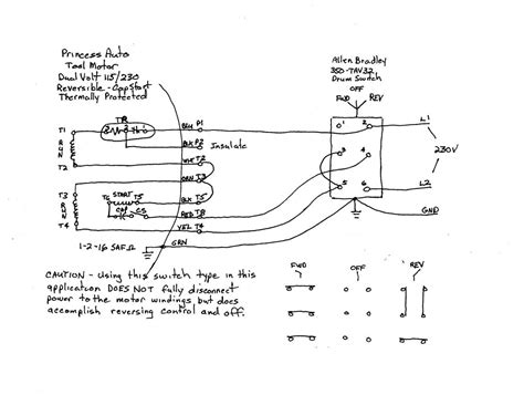 Volt Single Phase Motor Wiring Diagram