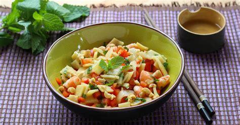 faire une salade de pate recette salade de crevettes aux pousses de bambou en pas