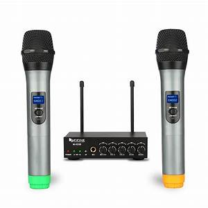 Fifine K036 Dual Wireless Microphones System For Gig  Home