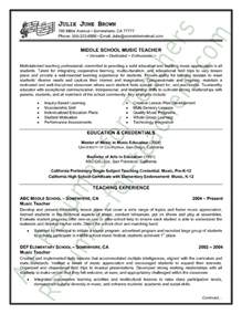 How To Write A Resume For Teachers by Resume Sle Page 1