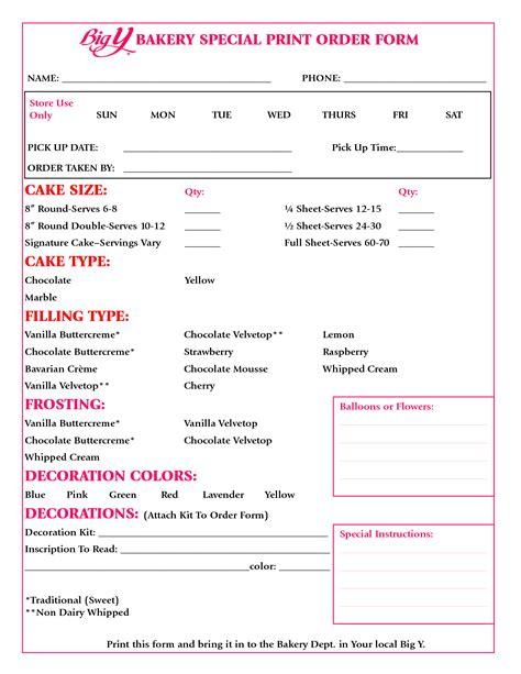 cake order form google search decoratingbaking tips