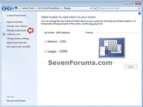 screen saver password protection enable or disable