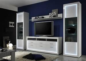 Iluminati IV Large Gloss TV Set With LED Lights Wall