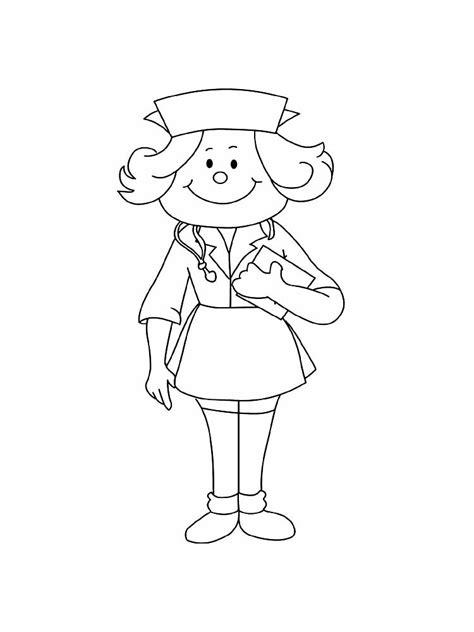 nurse coloring pages  printable nurse coloring pages