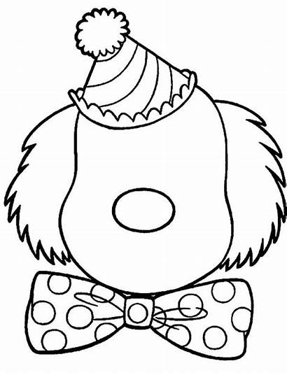 Clown Coloring Face Pages Blank Adults Killer