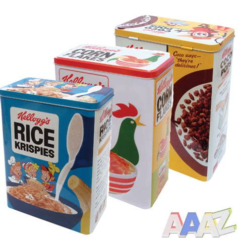 retro storage tins kitchen retro vintage cereal metal tin storage tin food holder jar 4831