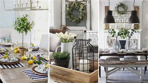 diy farmhouse style dining room centerpieces ideas home