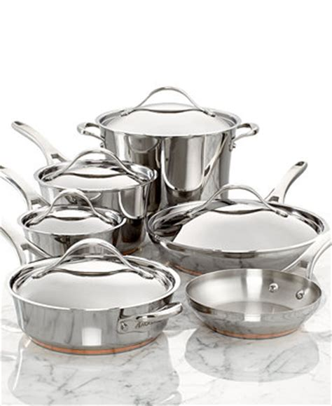 anolon nouvelle copper stainless steel  piece cookware