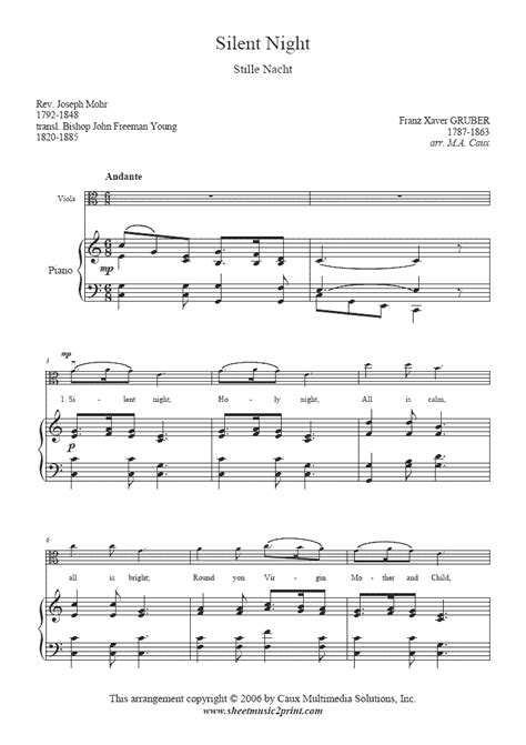 Share, download and print free sheet music for piano, guitar, flute and more with the world's largest community of sheet music creators, composers, performers, music teachers, students, beginners, artists and other musicians with over 1,000,000 sheet digital music to play, practice, learn and enjoy. Viola Sheet Music Popular Songs-silent night for beginners | Silent Night - Viola ...