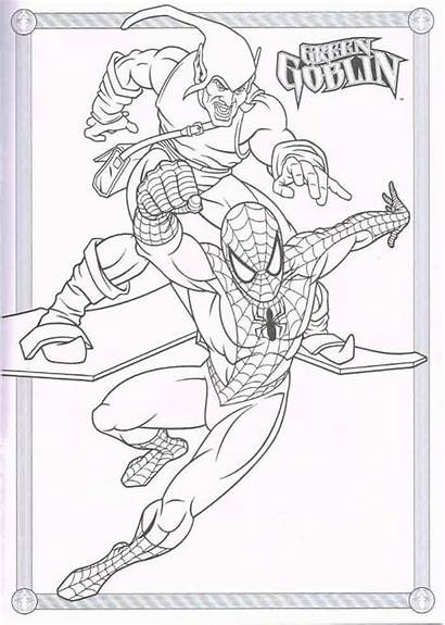 Coloring Spiderman Pages Goblin Printable Colouring Super