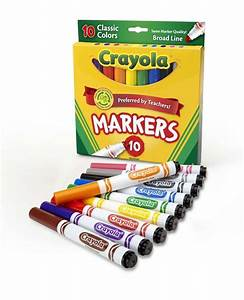 Crayola Broad Line Markers, Classic Colors, 10 Ct. | eBay