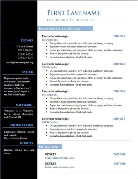 cv templates   word document shatterlioninfo