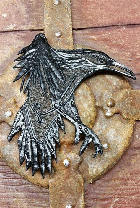 ragnar lothbrok leather raven prop  wjwdesign  etsy