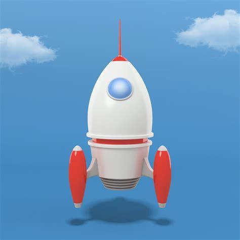 Cartoon Rocket 3d Asset Realtime Cgtrader