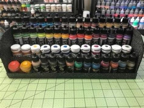 cheap  easy miniature paint racks youtube
