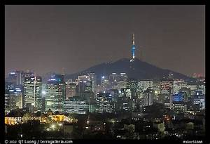 Picture/Photo: Seoul skyline with N Seoul Tower at night ...