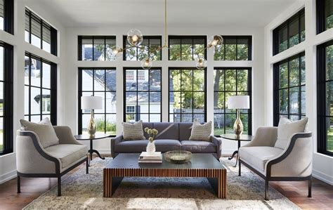 Living Room Window Trim Ideas by Black Trim Windows And Transoms Interior Barn Doors In