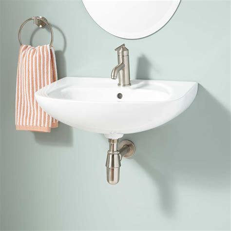 lowen double bowl wall mount bathroom sink bathroom