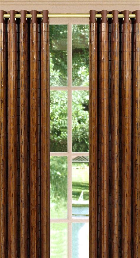 tortoise shell bamboo grommet window panel