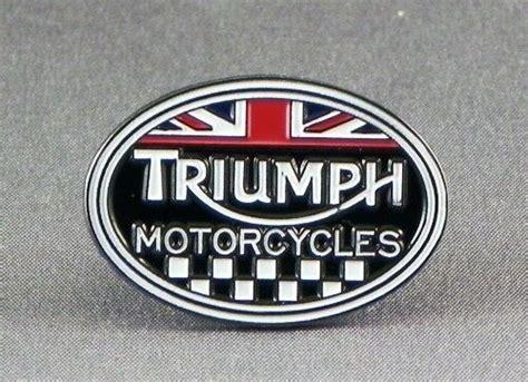Metal Enamel Pin Badge Brooch Triumph Motorcycles Logo