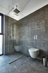 Le carrelage effet beton en 55 photos inspirantes for Salle de bain effet beton
