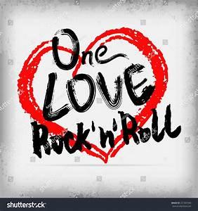 Rock N Roll Deko : one love rocknroll poster handwritten design stock vector 221901040 shutterstock ~ Sanjose-hotels-ca.com Haus und Dekorationen