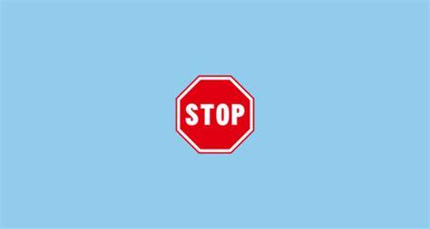 stop sign emoji  emojidex