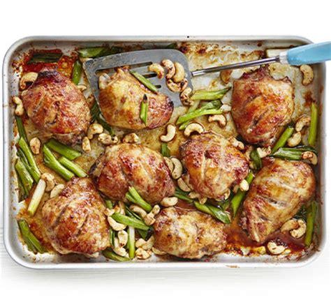 sticky chinese chicken traybake recipe bbc good food