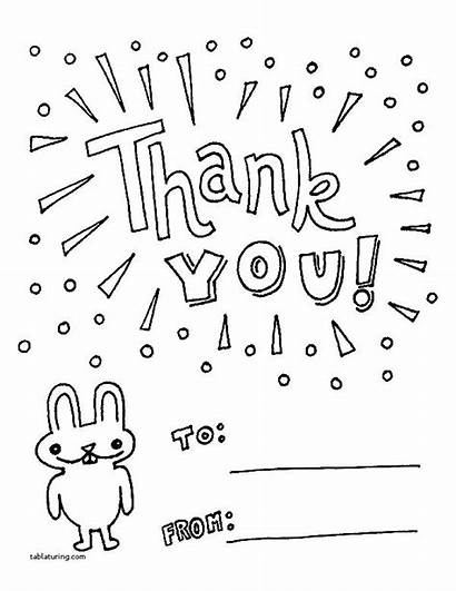 Thank Coloring Cards Pages Card Printable Teacher