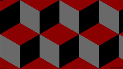 Wallpaper Red Grey 3d Cubes Black #8b0000 #696969 #000000