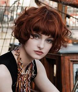 Slightly Curly Red Hair Tucked Hairstyles
