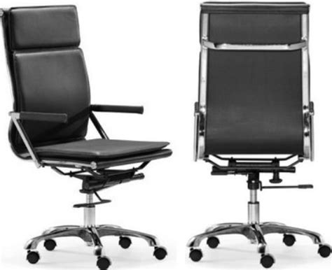 zuo modern 215231 lider plus high back office chair black