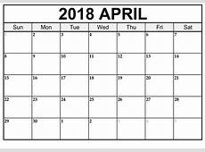 April 2018 Kalender Deutsch Feiertage Word Excel Vorlage