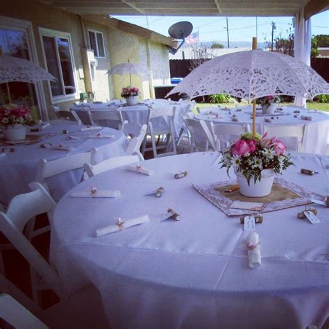 pretty tables and umbrella centerpieces vintage theme bridal shower in 2019 pinterest