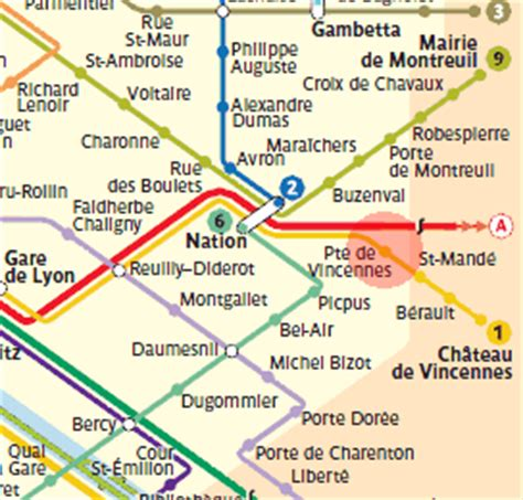 porte de vincennes station map metro