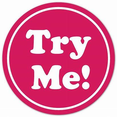 Try Circle Stickers Pink Sticker Label Peel