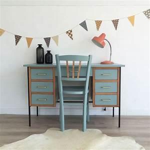 Bureau Enfant Vintage : chambre d 39 enfant quelle couleur choisir c t maison ~ Teatrodelosmanantiales.com Idées de Décoration