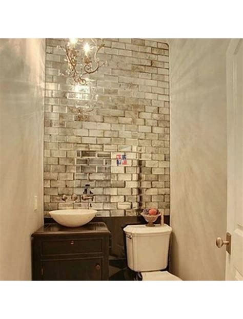 buy reflections silver    mirror glass subway tile