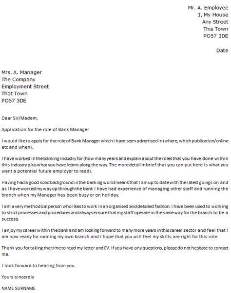 banking cover letter bank manager cover letter exle icover org uk 12116