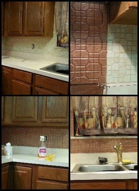 ceramics copper and ceramic tile backsplash on