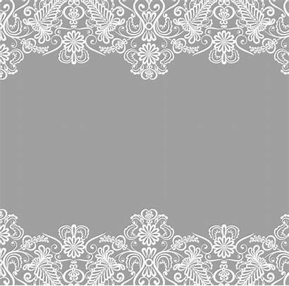 Lace Background Border Vector Titanui Clipart Grey