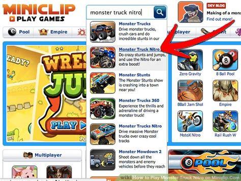 monster trucks nitro 2 how to play monster truck nitro on miniclip com 6 steps