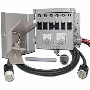 Connecticut Electric U00ae 6 Circuit  30 Amp Manual Transfer
