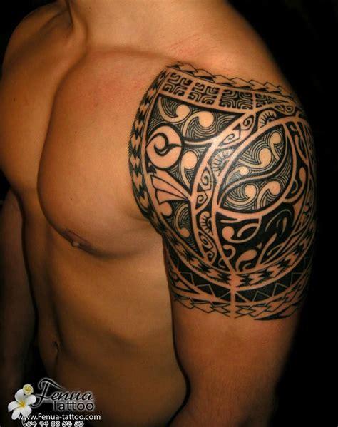 Polynésien Tatouage Maorie épaule Homme  À�》 ¤ Maori Poly