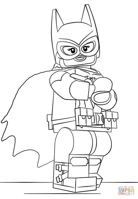 lego batgirl coloring page  printable coloring pages