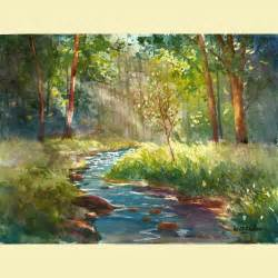 Watercolor Landscape Painting Print