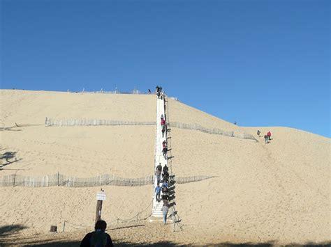 escalier dune du pilat on a march 233 sur la dune